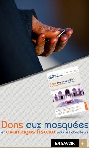 Don aux mosquées et avantages fiscaux