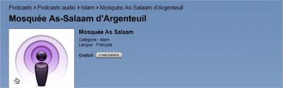 Podcast Mosquee Argenteuil