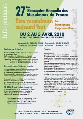 Rencontre annuelle des musulmans de france 2014 tarif
