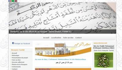 site internet mosquée halluin