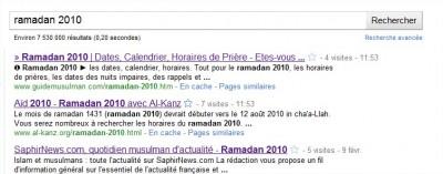 ramadan 2010 - Recherche Google