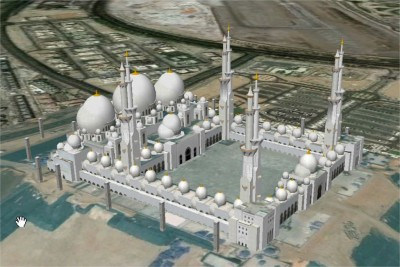 Sheikh Zayed Mosquee w1024 h1024 400x267 Les mosquées en 3D
