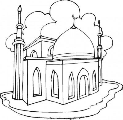 la-mosquée-coloriage