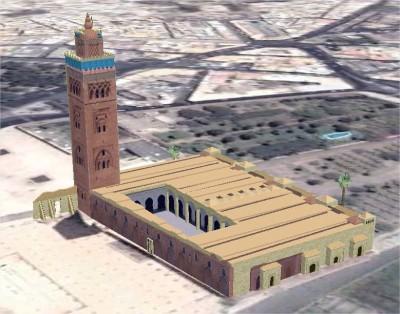 mosque koutoubia w1024 h1024 400x314 Les mosquées en 3D
