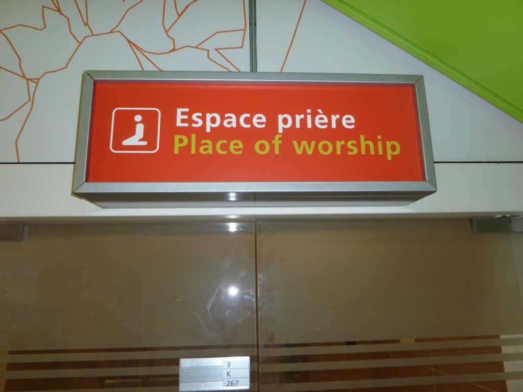 Salle de prière, Aéroport Charles de Gaulle
