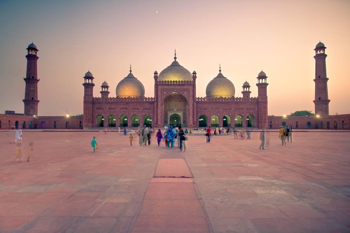 Mosquée Badshahi, Lahore Pakistan. La mosquée Rouge.