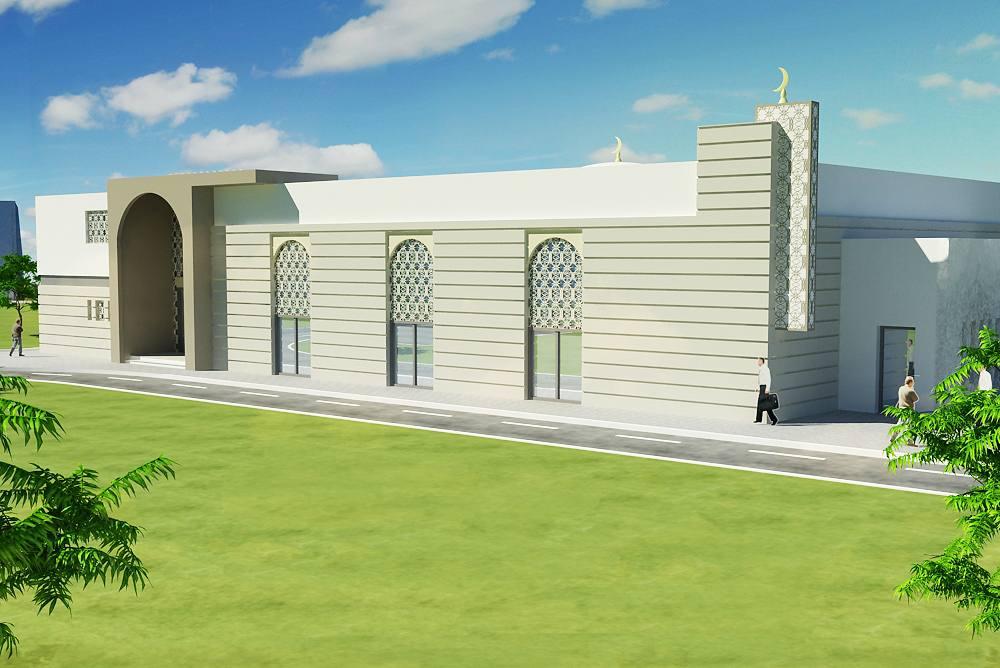 Maquette de la nouvelle mosquee des Ulis