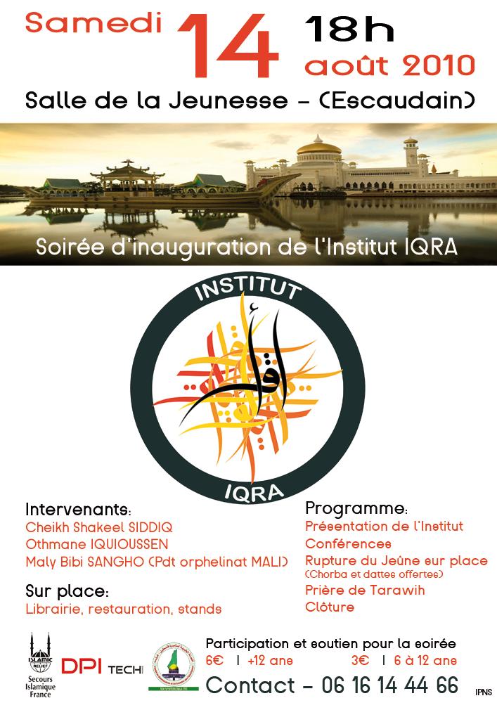 Inauguration de l'institut IQRA