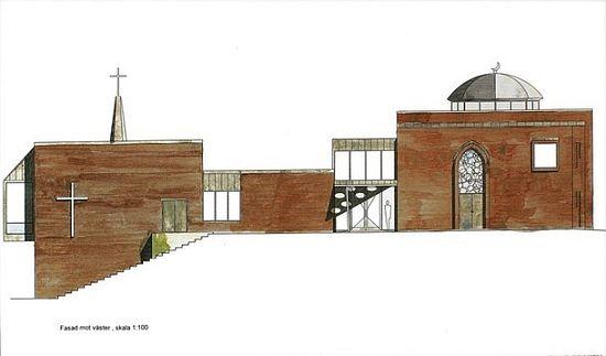 Maquette de l'eglise-mosquée de Fisksatra