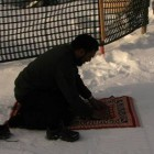 prière sur neige