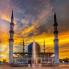 shah alam mosque hdr