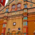 Colourful terracotta mosque of Porto Novo