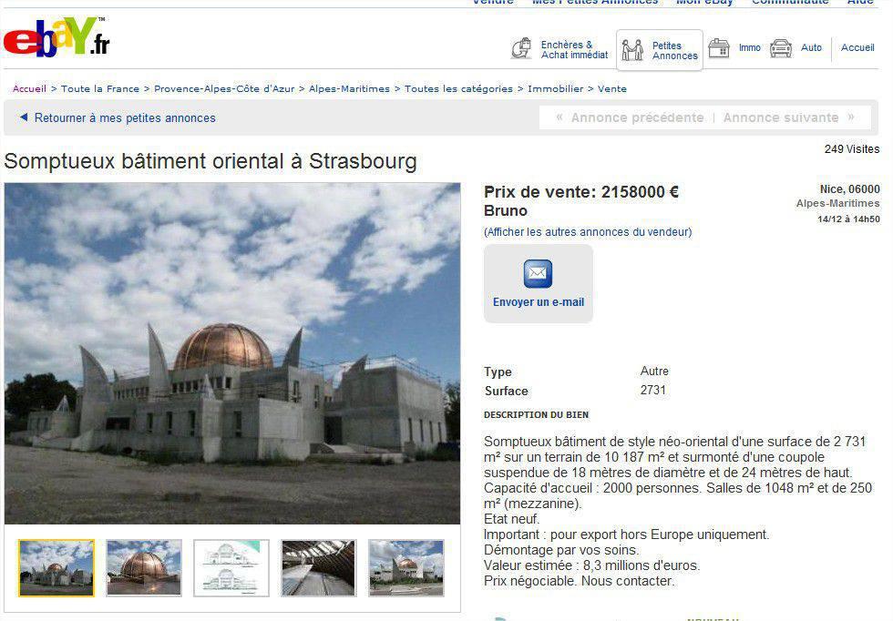 Une mosquée en vente