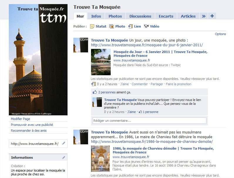 Facebook Trouve Ta Mosquée – Les 1000