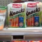 Knacki d'Herta halal avec du porc