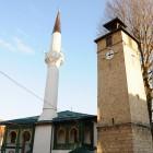 mosquee et minaret à travnik en bosnie
