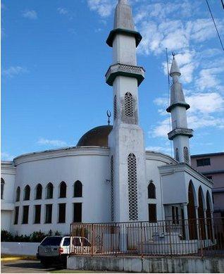Mosquée panama city avec deux minarets