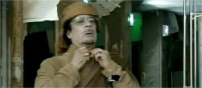 kadhafi face à la tv