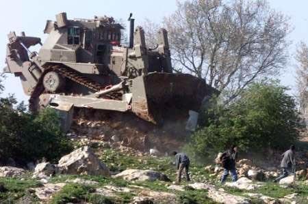 Bulldozer pour détruire les habitations