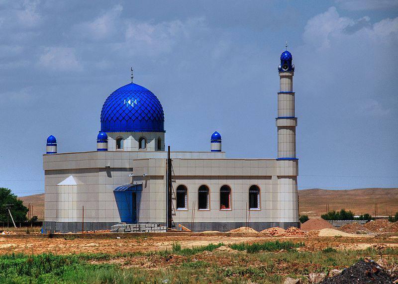 Mosquée en construction au Kyrgystan