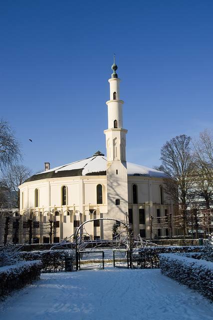 La grande mosquée de Bruxelles, minaret et dôme
