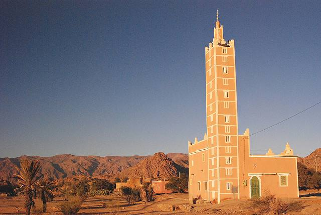 Mosquée située à Tafraoute au Maroc