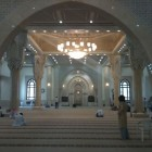 intérieur d'une mosquée de Dubai