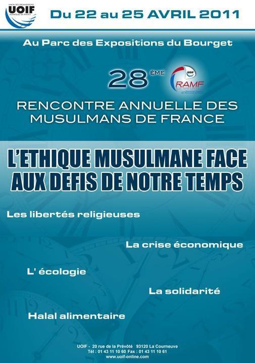 28e Rencontre Annuelle des Musulmans de France, 22 avril 2010 au lundi 25 avril 2001