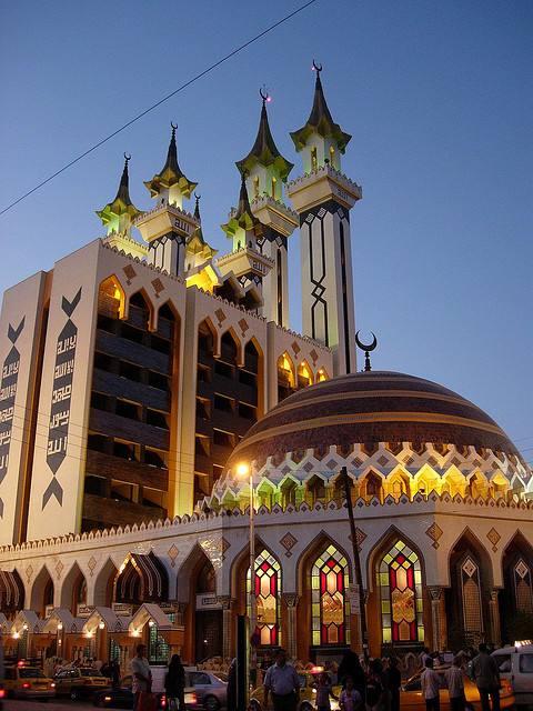 L'une des grandes mosquées d'Aleppo en Syrie