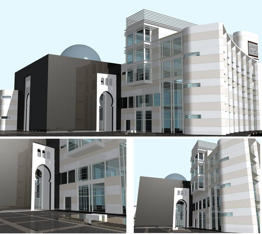 Maquette de la nouvelle mosquee de bobigny