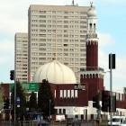 Grande mosquée de Burmingham avec un minaret