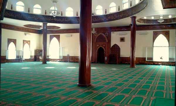intérieur de la mosquée de réunion