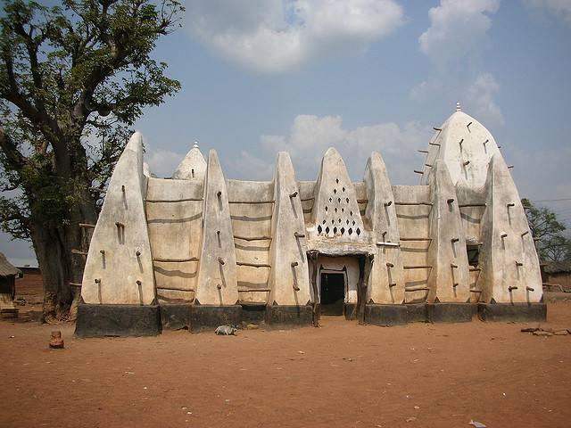 Mosquée de terre au ghana