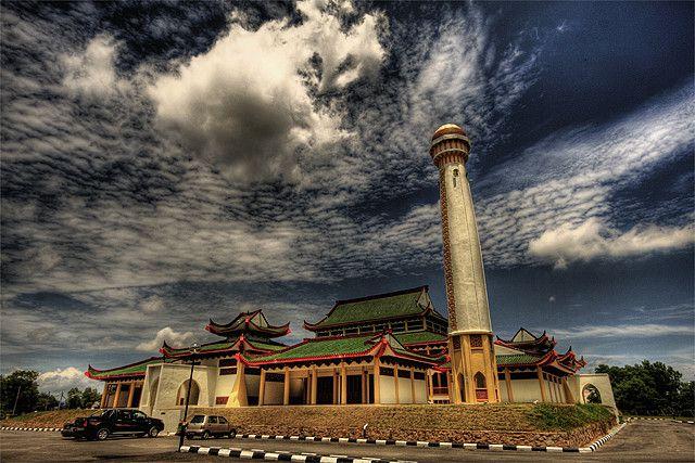 La mosquée silver Jubilee en malaisie