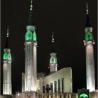 La mosquée de Nizhnekamsk en Russie avec ses quatre minaret