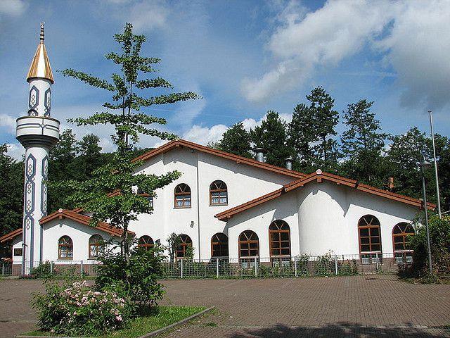 Mosquée et minaret à Mosbach en Allemagne