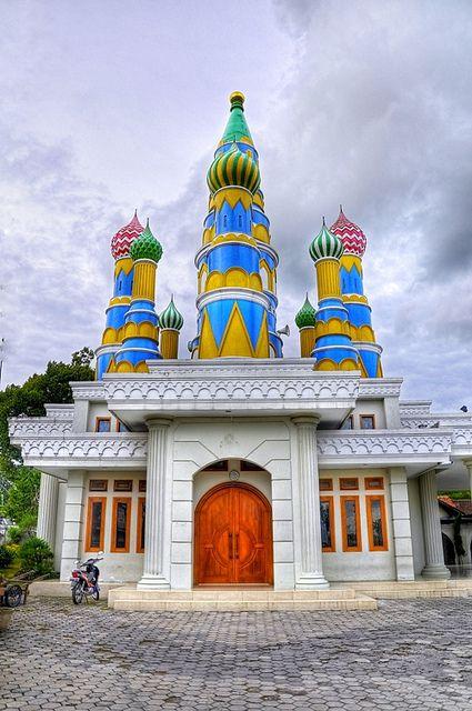 Ou la mosquée moscou, est située à yogyakarta en indonésie