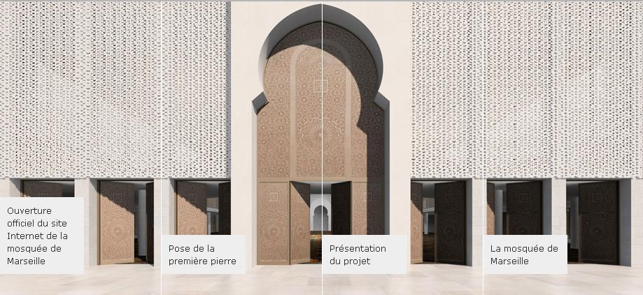 portail d'accueil site internet mosquée Marseille