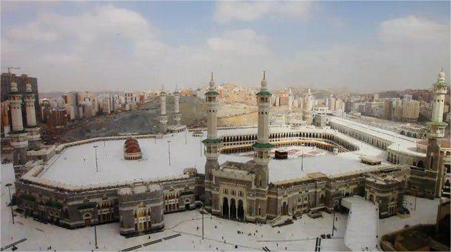 Vidéo timelapse de la mosquée de la Mecque