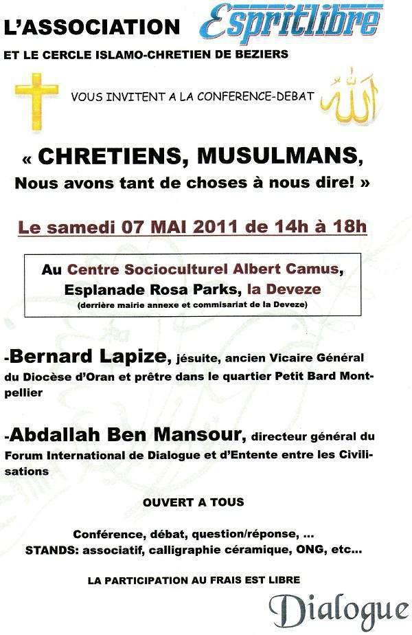 Affiche Conférence interreligieuse