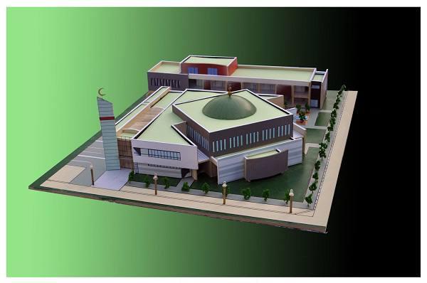 Maquette de la nouvelle mosquée de Nantes - Asslam quartier malakoff