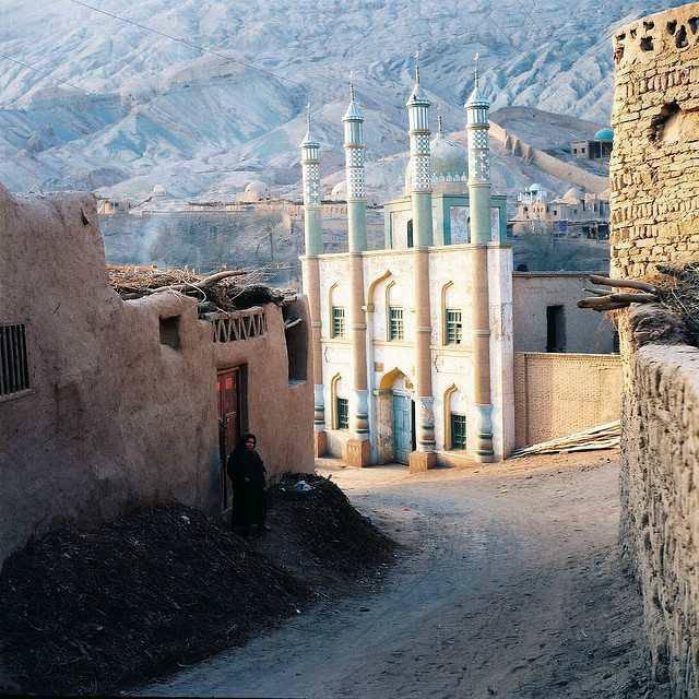 mosquée de la province Xinjiang en Chine