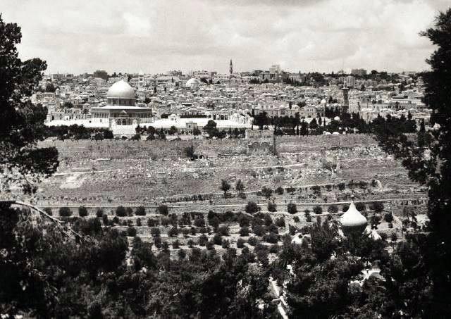 L'Esplanade des mosquée et Jérusalem en 1971