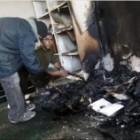 Mosquée en feu