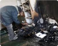 Encore une mosquée incendiée par des colons juifs