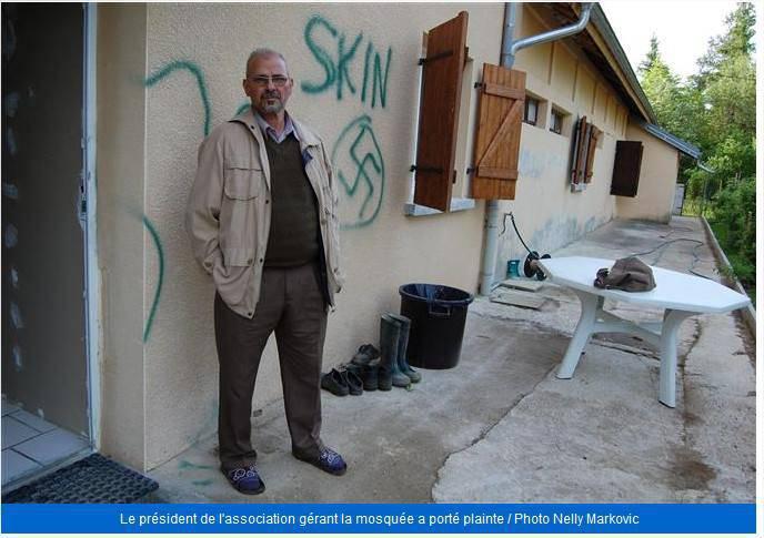 Islamophobie : La mosquée de Champagnole taguée