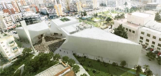 BIG remporte le concours pour la grande mosquée de Tirana, Albanie