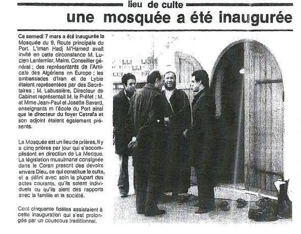 Mosqu e inaugur e en 1981 remplac e par une fourri re en 2011 trouve ta mo - Horaire priere gennevilliers ...