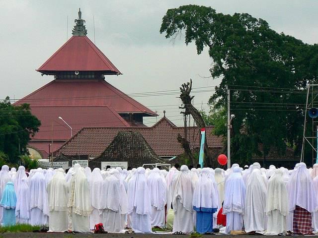 Mosquée de Jogjakarta lors de la prière de l'Aïd