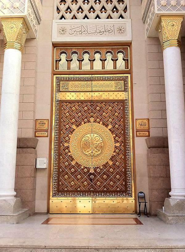 Une porte de la mosquée Al Nabawi